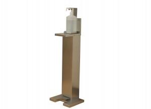 ステンレス製足踏み式消毒液スタンド